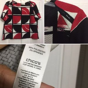 CHICO'S. Woman's blouse.